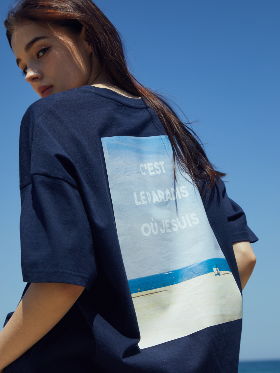 LT CLO T-SHIRT(NAVY)