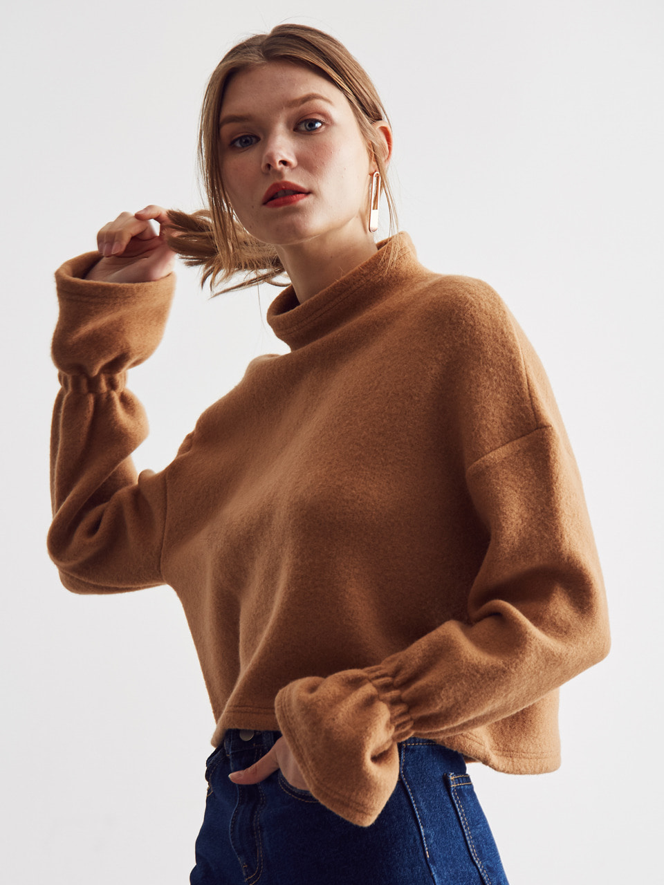 LA BELL SLEEVE T-SHIRT(BROWN)