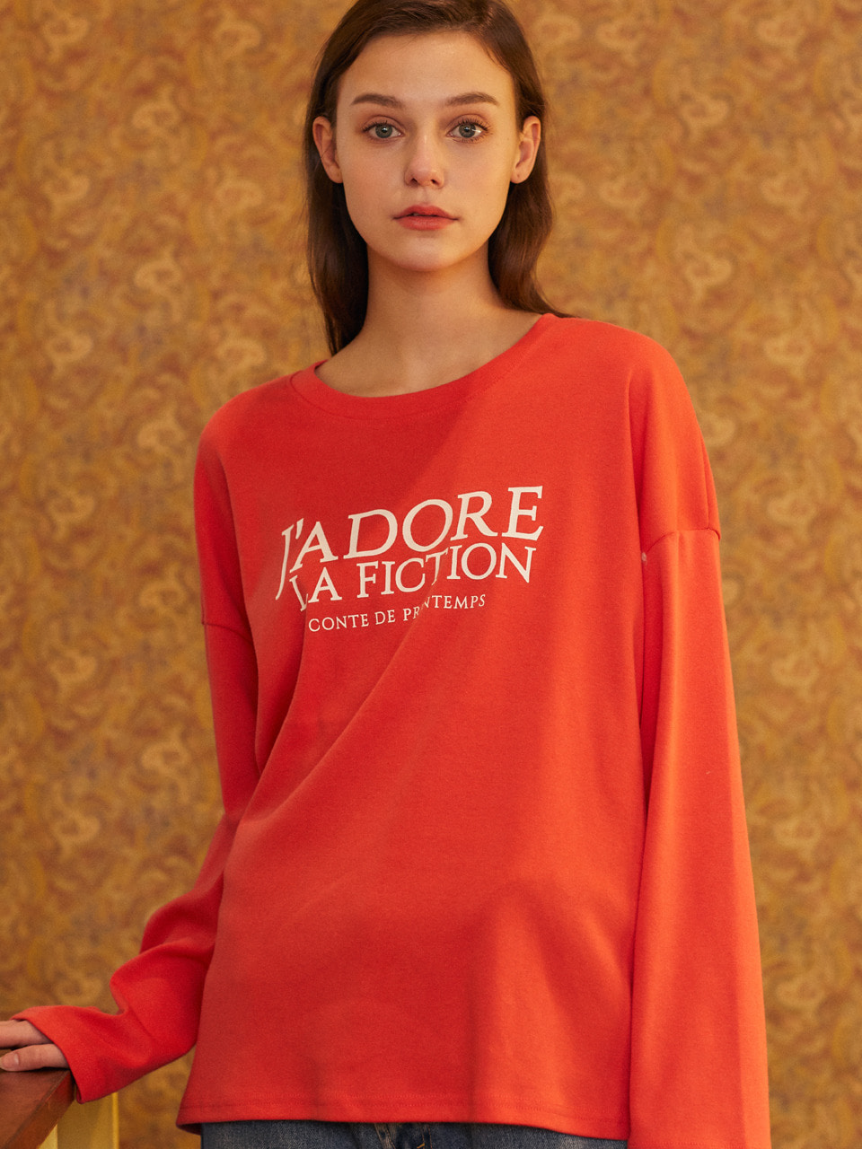 19SP FICTION T-SHIRT(CORAL)