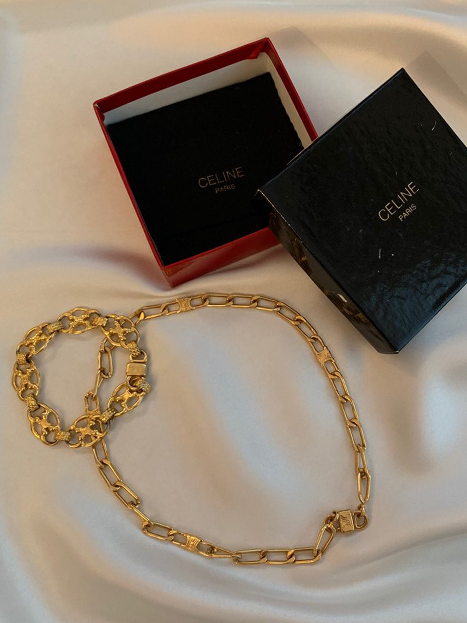 VINTAGE CELINE Necklace & Bracelet set