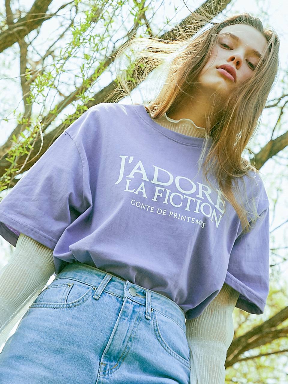 18SP FICTION T-SHIRT(VIOLET)