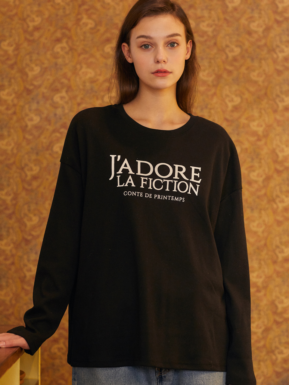 18F FICTION T-SHIRT(BLACK)