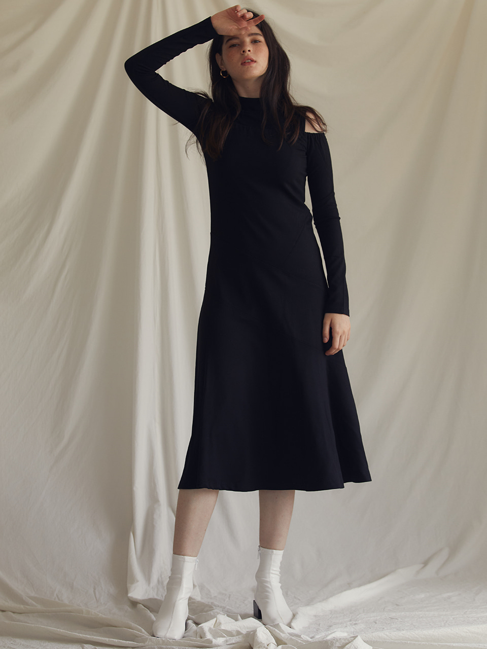 ES LAYERED DRESS(BLACK)