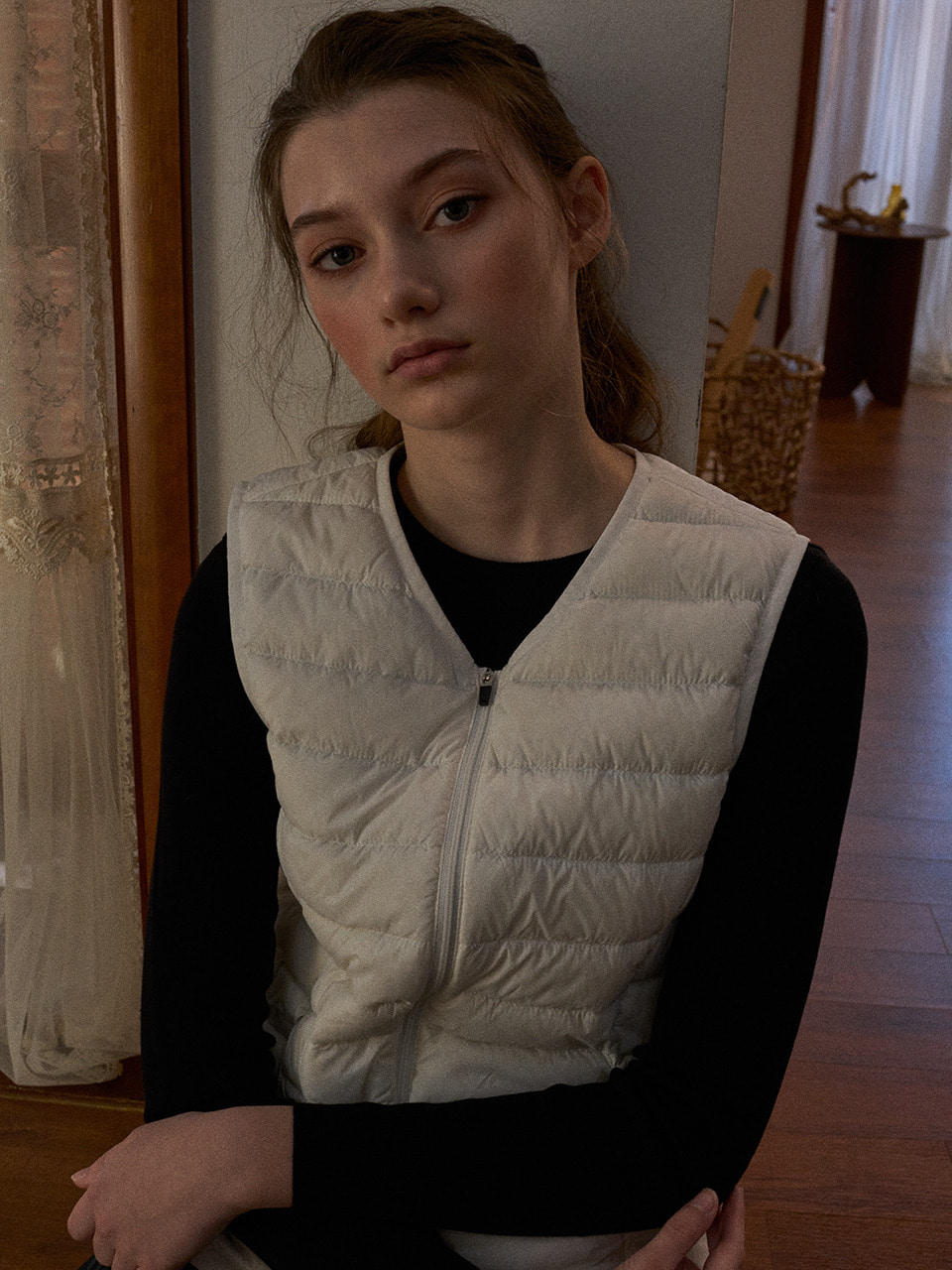 LTG6 LIGHT DOWN VEST(IVORY)