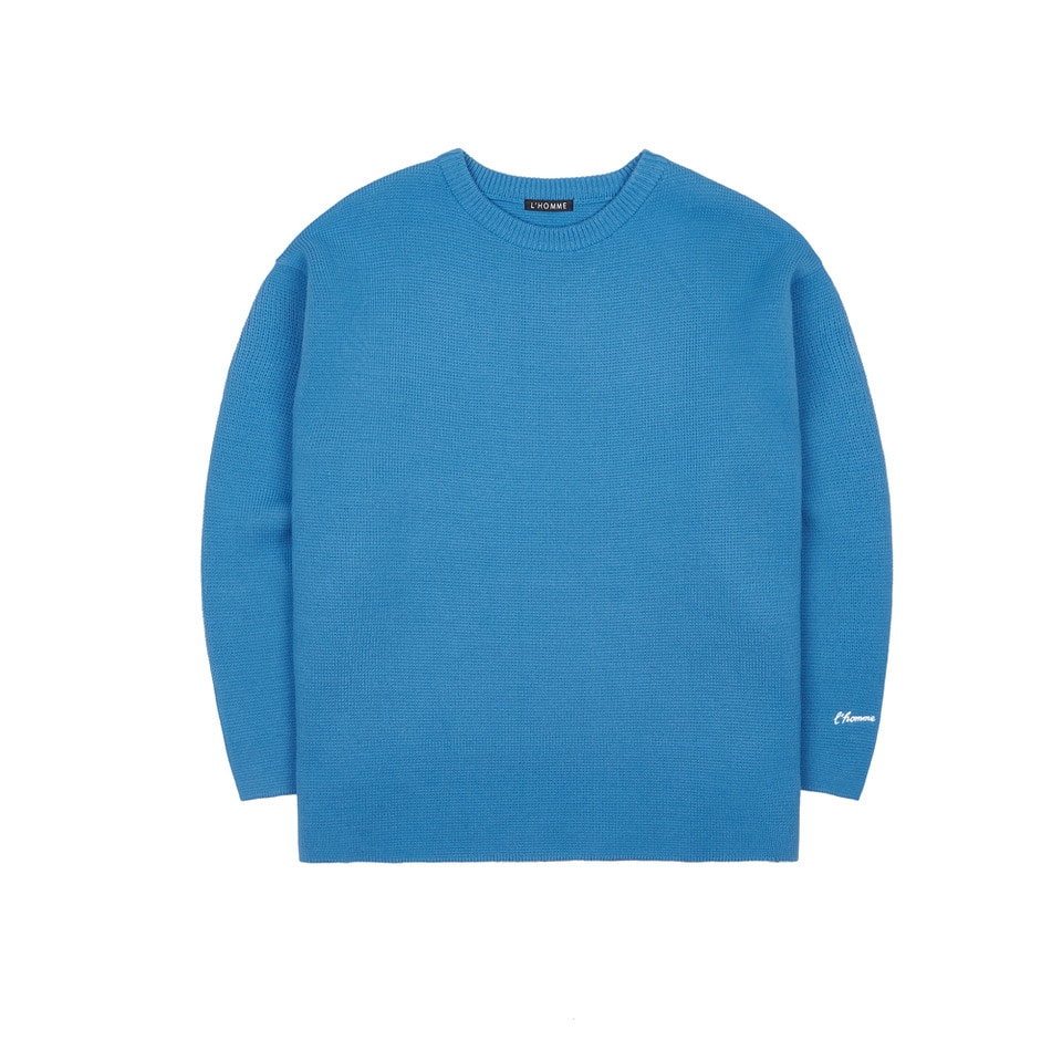LAH3 ROUND NECK KNIT(BLUE)