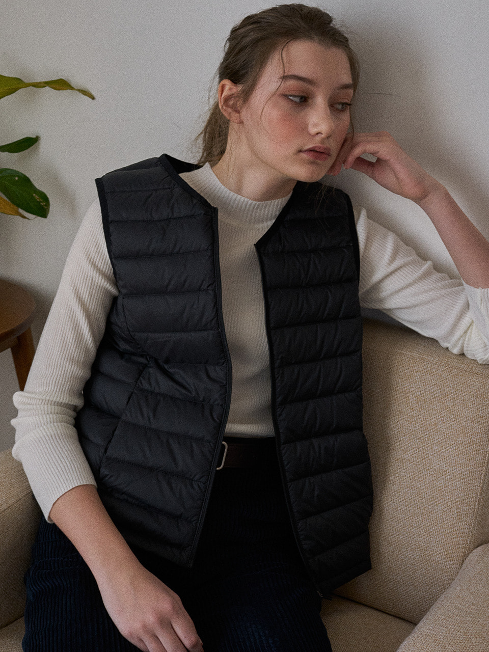 LTG6 LIGHT DOWN VEST(BLACK)