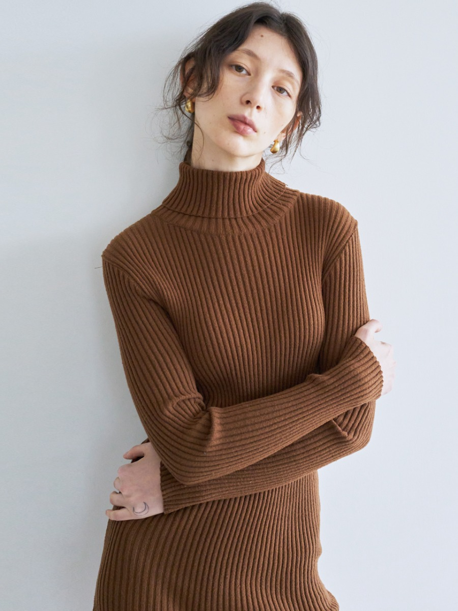LTG7 KNIT LONG OPS(BROWN)