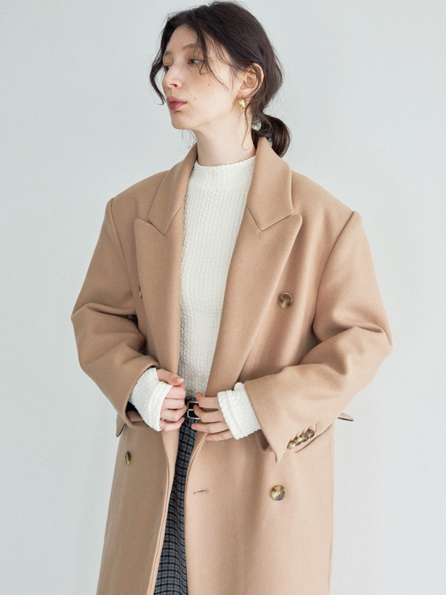 남보라 착용_LTG7 DOUBLE-BREASTED WOOL COAT(BEIGE)